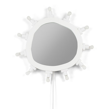 'Luminaire' MDF Mirror with Bulbs