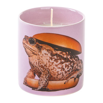 Porcelain Encased Candle - Toad