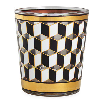 Versailles Glasses - Set of 4 - Black/White/Gold