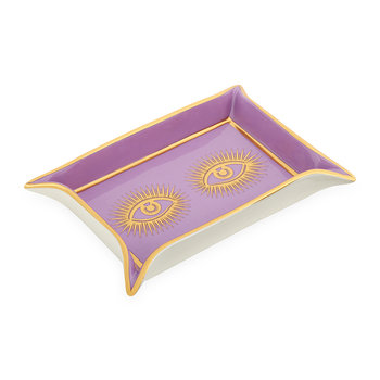 Eyes Valet Tray - Purple/Gold