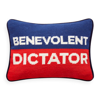 UK Needlepoint Personality Pillow - Benevolent Dictator