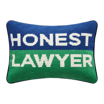 UK Needlepoint Personality Pillow - Honest Lawyer