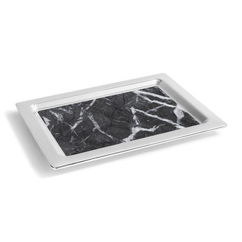 Dual Tray - Carnico Marble/Silver