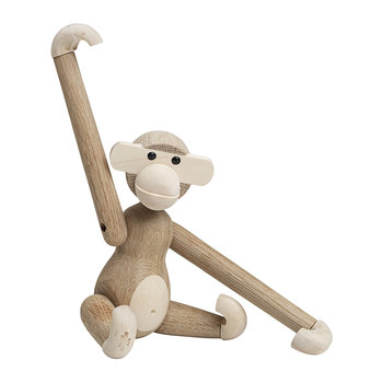 Monkey Wooden Figurine - Small - Maple