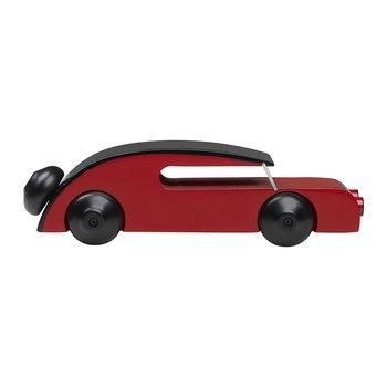 Wooden Small Sedan Car Toy - Red