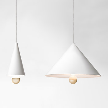 Cherry Pendant Lamp - White/Gold - Small