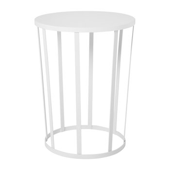 Hollo Stool/Side Table - White