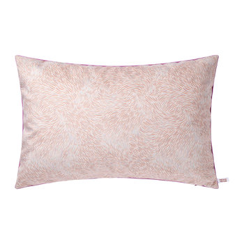 Volutes Rectangular Cushion - Pink/Red - 60x40cm