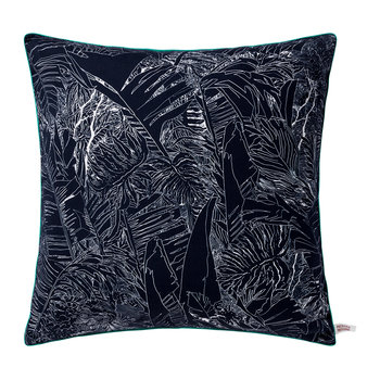 Jungle Square Cushion - White/Black/Bronze - 50x50cm
