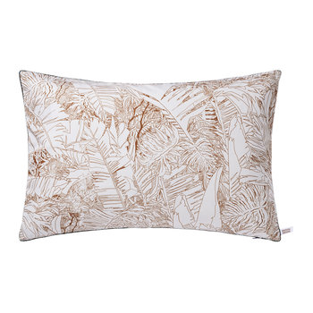 Jungle Rectangular Cushion - Copper/Blue - 60x40cm