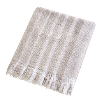 Etchings & Roses Blanket - Dove Silver