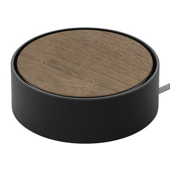 Eclipse 3 Port USB Charger - Wood/Black
