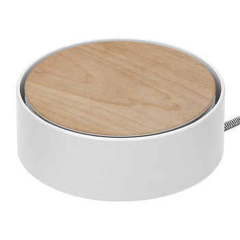 Eclipse 3 Port USB Charger - Wood/White
