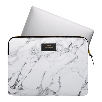 Marble Laptop Case - White