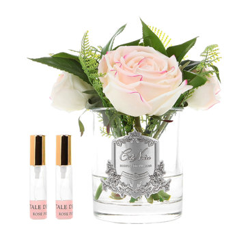 Blush Woodland Rose - Clear Glass Vase