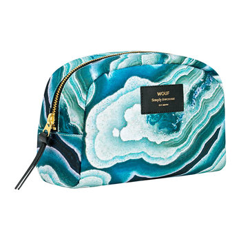 Blue Mineral Cosmetic Bag