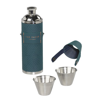 Hip Flask & Shot Cups - Teal