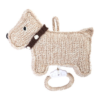 Crochet Dog Music Box - Sand