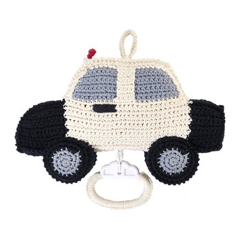 Crochet Police Car Music Box - Black