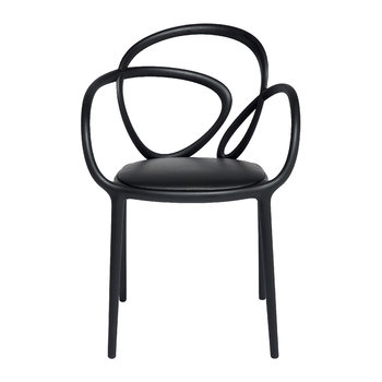 Loop Indoor Chair with Cushion - Black