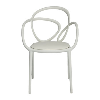 Loop Indoor Chair with Cushion - White