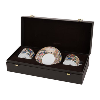 Golden Flowers Teetasse & Untersetzer - 2er-Set - Luxusgeschenkbox