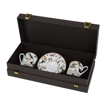 Garden's Birds Espresso Cup & Saucer - Set of 2 - Luxury Gift Box