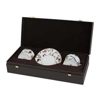 Garden's Birds Teacup & Saucer - Set of 2 - Luxury Gift Box