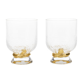 Python Gold Water Glasses - Set of 2