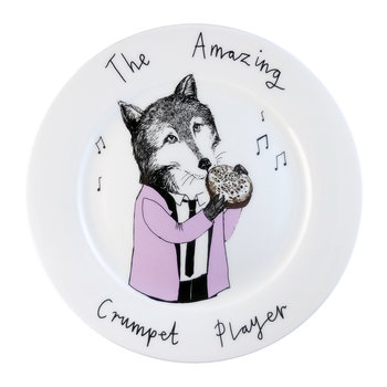 'The Amazing Crumpet Player' Side Plate