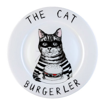 'The Cat Burgerler' Side Plate