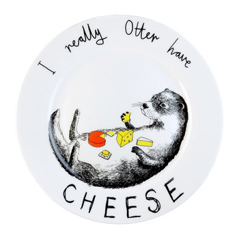 'I Really Otter Have Cheese' Side Plate