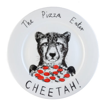 'The Pizza Eater Cheetah' Side Plate
