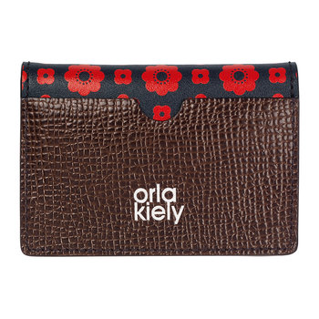 Flower Foulard Card Wallet - Navy/Red