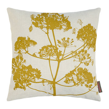 Angelica Cushion - 55x55cm - Natural Linen/Dark Quince