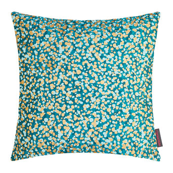 Garland Cushion - 45x45cm - Kingfisher/Peacock/Duck Egg/Gold