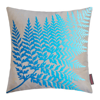 Fern Ombre Cushion - 45x45cm - Pebble/Kingfisher
