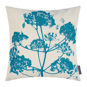 Angelica Cushion - 55x55cm - Natural Linen/Dark Kingfisher
