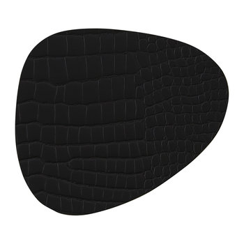 Croco Curve Table Mat - Black