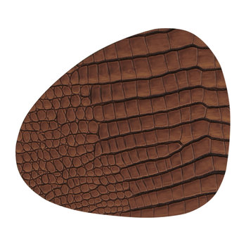 Croco Curve Table Mat - Cognac