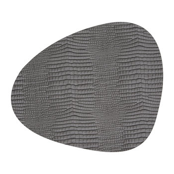 Croco Curve Table Mat - Silver/Black