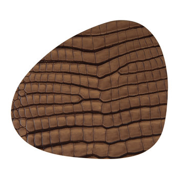 Croco Curve Drinks Coaster - Cognac