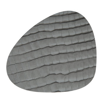 Croco Curve Drinks Coaster - Silver/Black