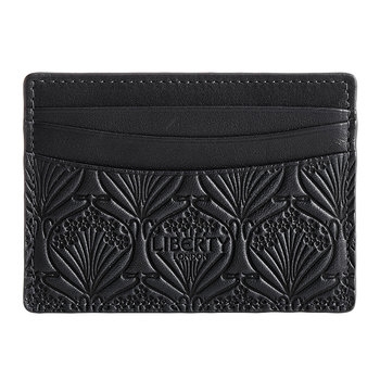 Embossed Card Holder - Black