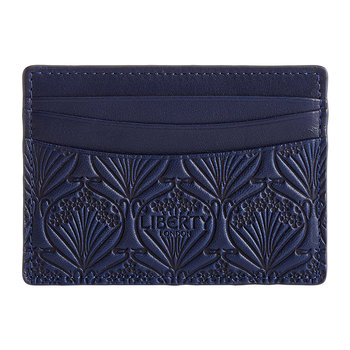 Embossed Card Holder - Navy
