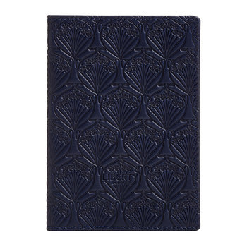 Embossed Passport Holder - Navy
