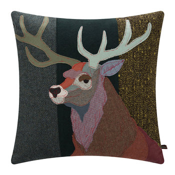 Red Stag Pillow - 60x60cm
