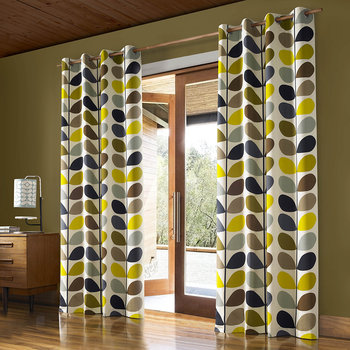 Multi Stem Eyelet Curtains - Duck Egg