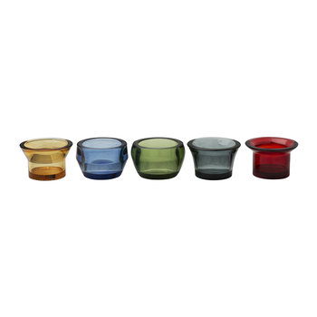 Kin Glass Tealight Holders - Multi
