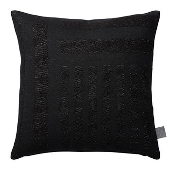 Contra Striped Glitter Cushion - 40x40cm - Black
